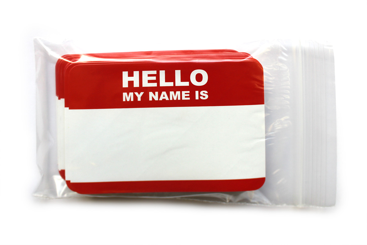 """Hallo My Name is"" Stickers [click for large picture]"