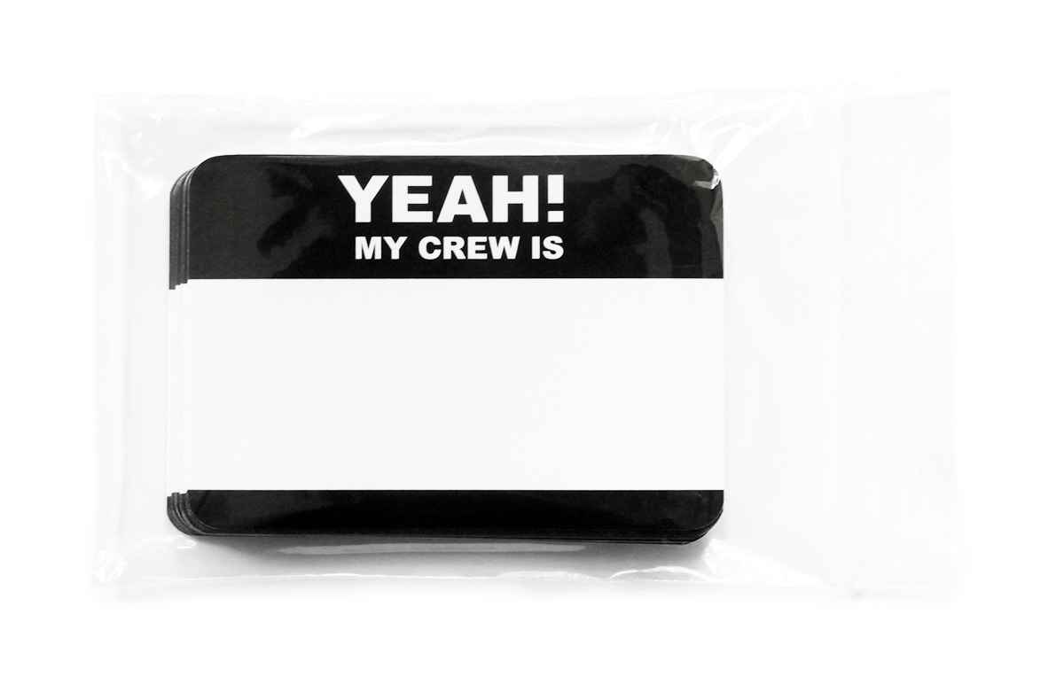 """Yeah My Crew"" Stickers [click for large picture]"